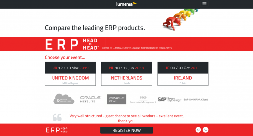 Drupal 8 website for ERP event